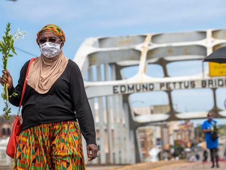 John Lewis' final Pettus crossing offers 'poetic justice'