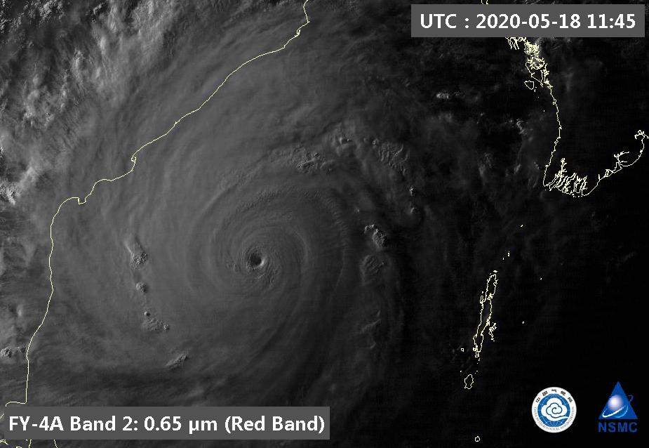 Ciclone Amphan dois dias antes de atingir a Índia e Bangladesh.