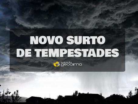 NOVO ROUND DE TEMPO SEVERO NO SUL DO BRASIL