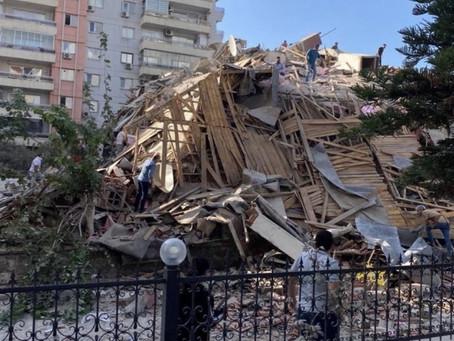 TERREMOTO DEIXA DESTRUIÇÃO EM CIDADES DA TURQUIA E GRÉCIA