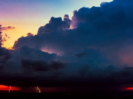 Bela e assustadora tempestade registrada em Belo Horizonte, em Janeiro de 2020.