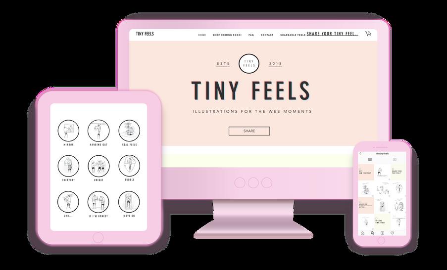 Tiny Feels Website Design