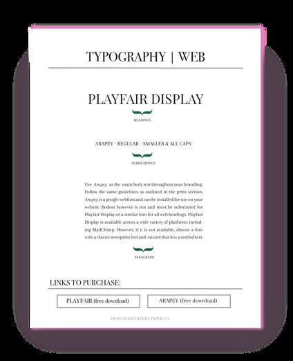 Font Guide - Web