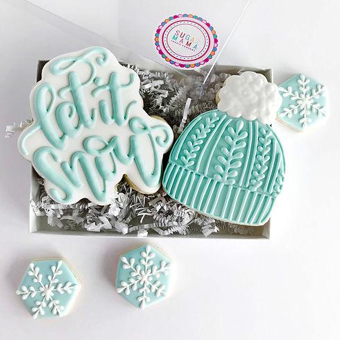 Let it Snow, Touque and 3 mini snowflake