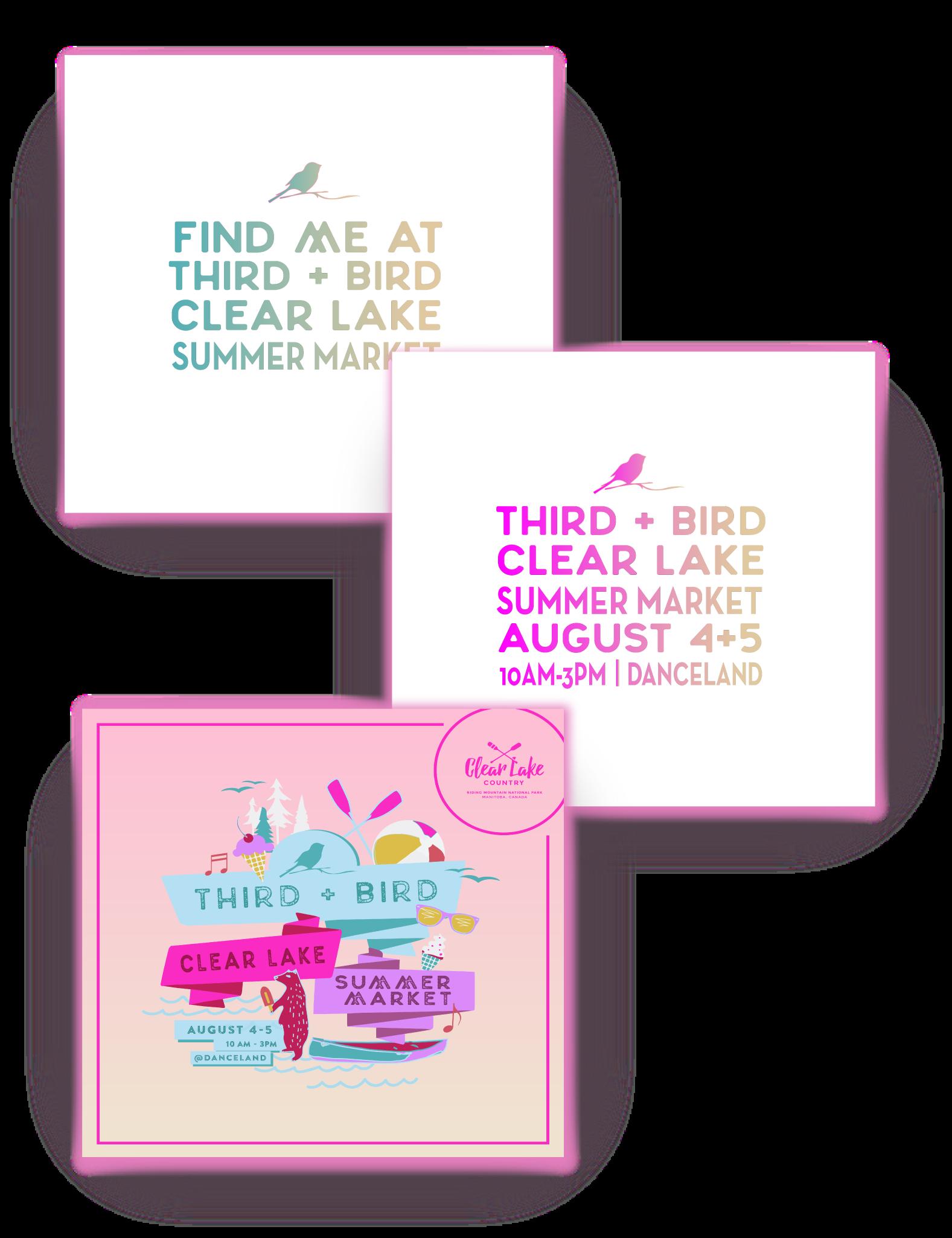 Third + Bird Clear Lake Event Brand