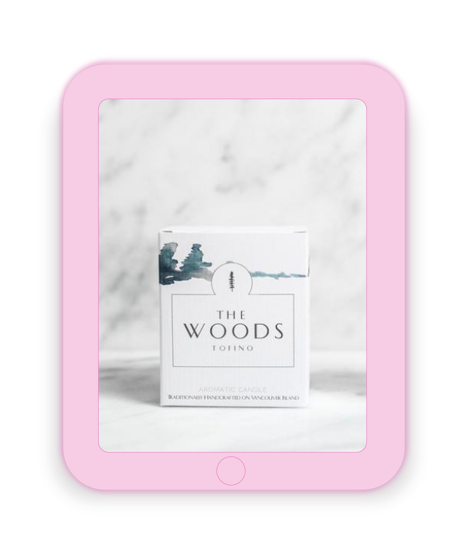 The Woods Candle Package Design