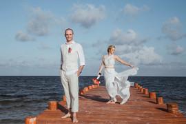 Casual wedding in Playa del Carmen
