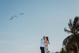 Casual destination wedding in Mexico