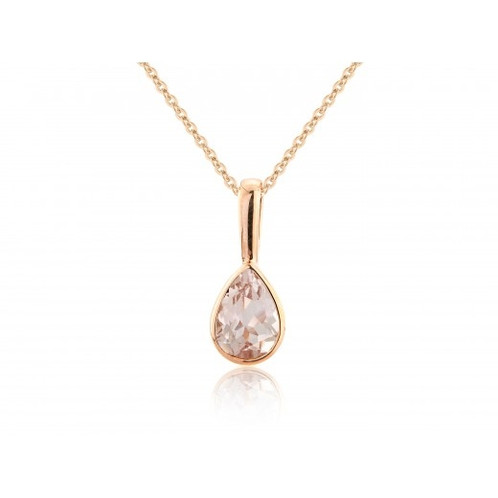 less roseplated necklaces gemstone necklace and for silver morganite i miadora halo overstock cat j diamond watches jewelry tdw