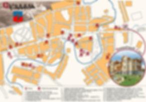 Карта Суздаля с обозначением гостевого дома Вишневый са