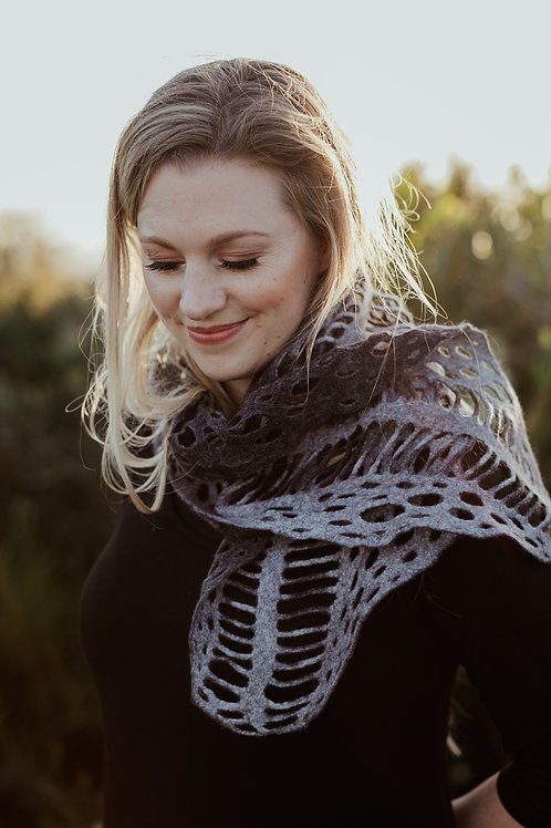 Lacewing Felted Scarf