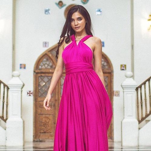 Fuschia Wrap Dress