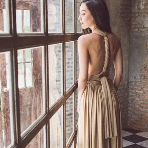 Gold Wrap Dress