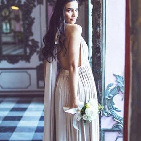 Taupe Wrap Dress