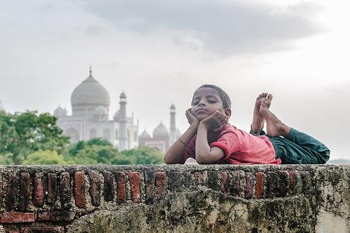 Beside the Taj Mahal