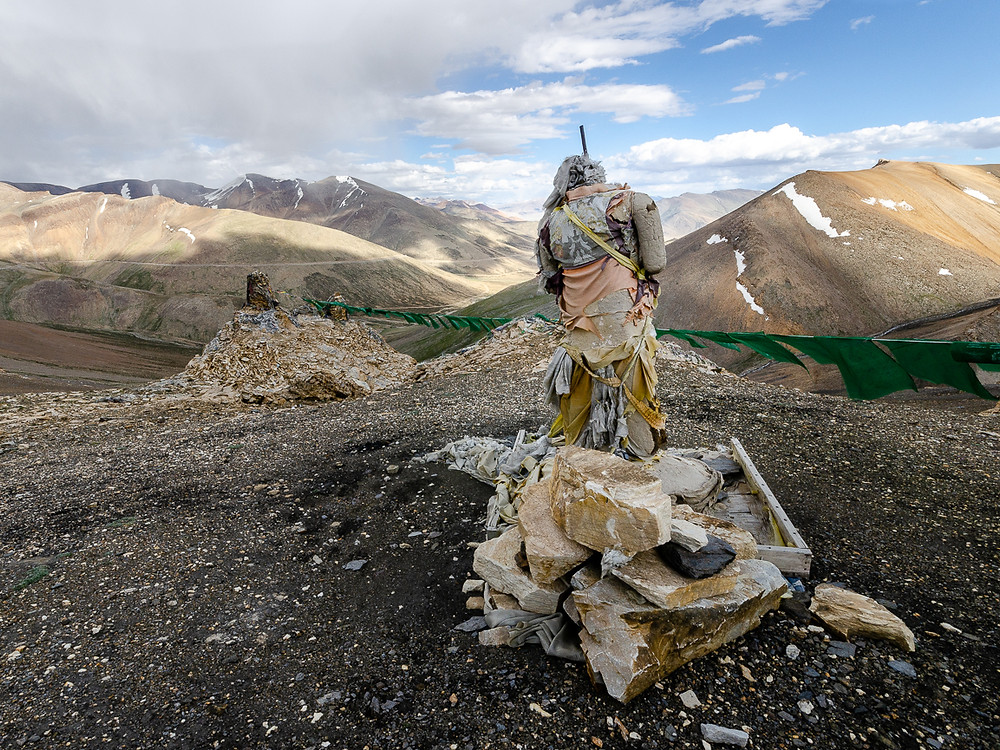 Ancient suit of armour in Ladakh on bus journey through Indian Himalayas