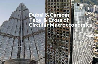 Dubai and Caracas, Face and Cross of Circular Macroeconomics