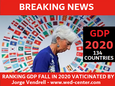GLOBAL ECPONOMIC COLLAPSE 2020:FALL IN THE GDP OF 134 COUNTRIES FORECAST BY J.VENDRELL