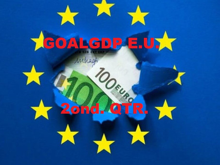 THE EU'S EXPECTED GDP FOR THE 2ND QUARTER SHOULD EXCEED 3%