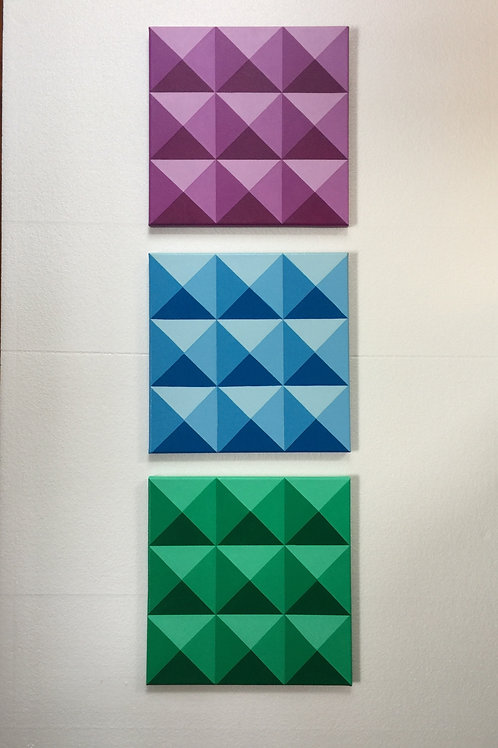 Triangles on Square Panels