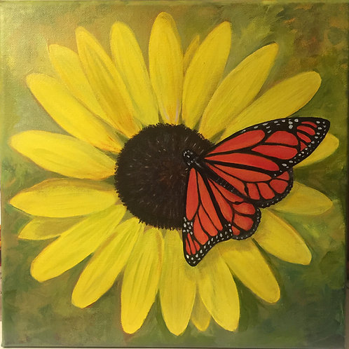Black-eyed Susan & Butterfly