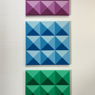 Triangles on Square canvas
