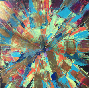 abstract square painting
