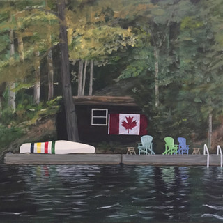cabin with Huson Bay Canoe