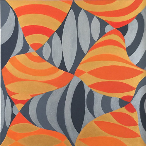 Orange & Gray Waves