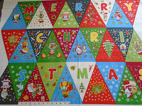 Christmas bunting - £9.50 per panel
