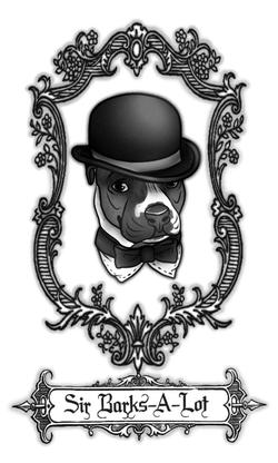 Sir Barks-A-Lot Label