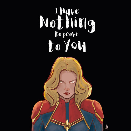 Print Capitã Marvel