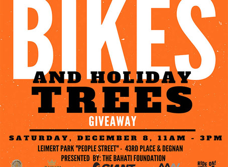 1st ANNUAL BIKE &  HOLIDAY TREE GIVEAWAY