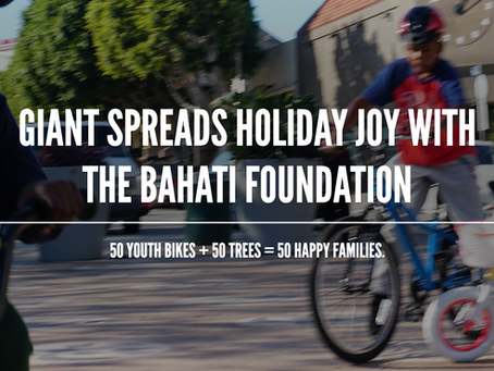 50 BIKES + 50 TREES = 50 HAPPY FAMILIES