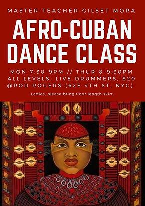 Afro-Cuban Dance Class