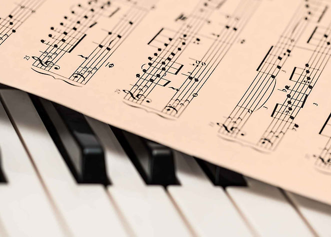 Piano and music
