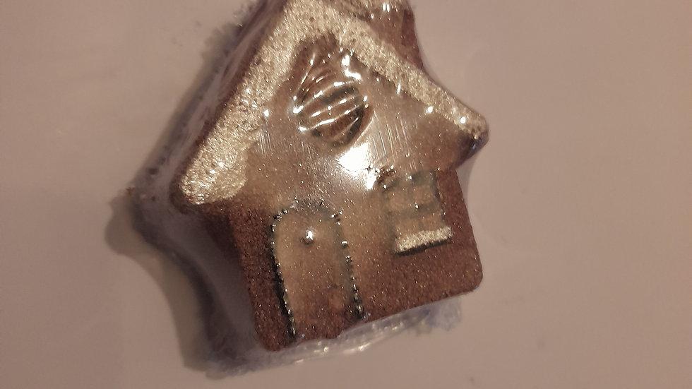 Gingerbread House Bath Bomb