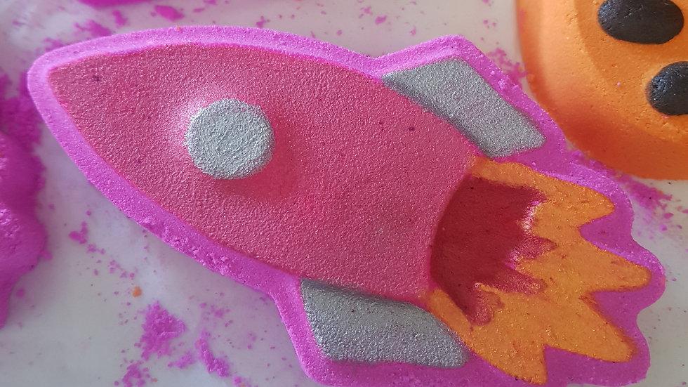 Pink Rocket Bath Bomb
