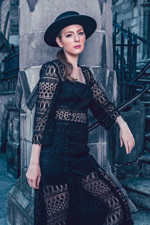 Published Fashion editorial featuring model Cara H wearing Giovanni Ricci Designs, shot by Marc De Vinci