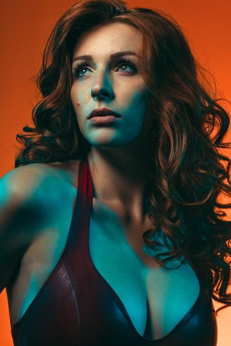 Stylish portrait of model Dane Halo taken by Marc De Vinci