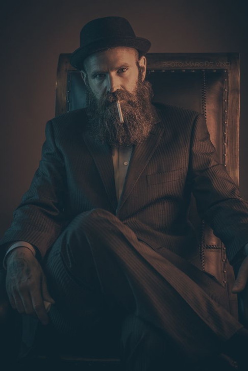Character portrait of actor / model Virgil Davies by Marc De Vinci