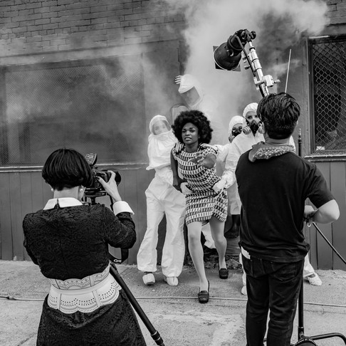 "BTS shot of Formento & Formento ""Hysteria"" shoot in Vancouver 2015. Image by Marc De Vinci"
