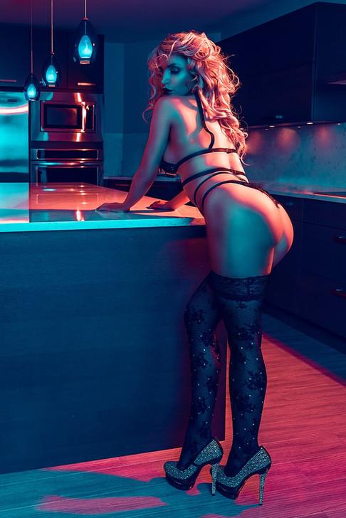 Colourful shot of model Vendella Sonia, image by Marc De Vinci