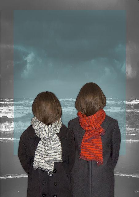 waves scarf sea folder lr OR orange or r