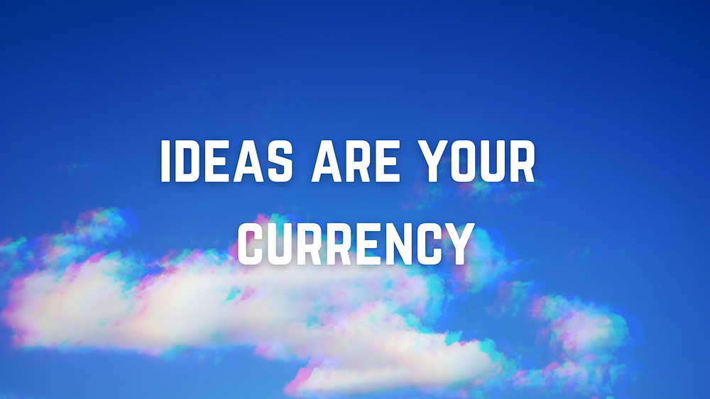 Blue sky thinking - image to show the ideas are super valuable