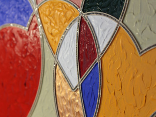Diamond Art - paint, stones and wood