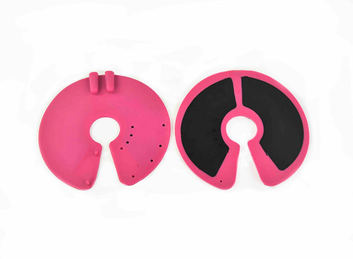 2x Professional Rubber Breast Electrode Pads
