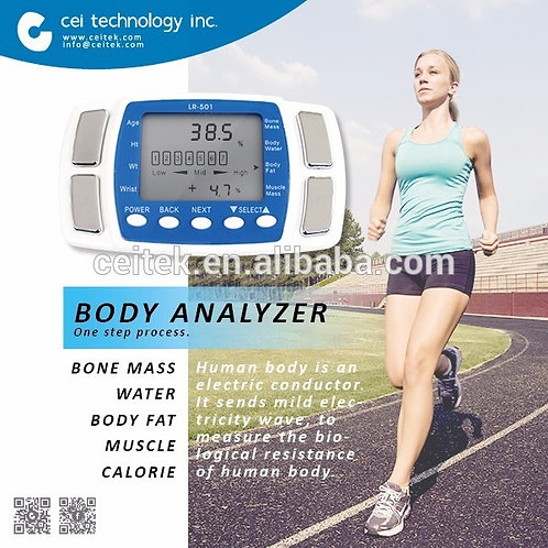 Body: Fat, Water Calories Bone and Muscle Analyser