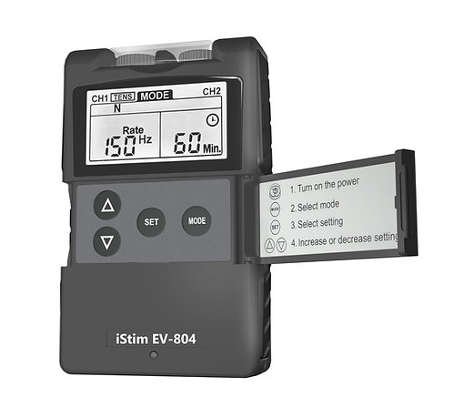 Combo TENS & EMS Machine EV-804 Black very simple to use & comes with 31 pre-programmed functions