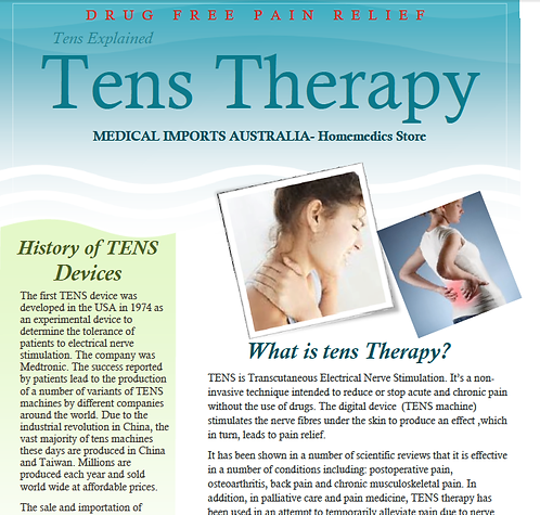 TENS & EMS THERAPY E-BOOKLET